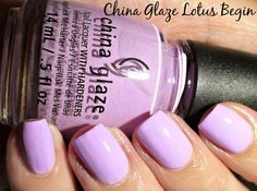 Icy Nails: Review: China Glaze Lotus Begin. Please click through to my blog post to read my full review of this lilac creme. #nailpolish #nails #manicure #chinaglaze #review #bblogger #bbloggers #bblogcoalition via @Erika Costello