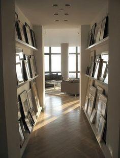 Photo frame ledge, hallway