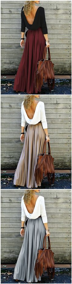 Long sleeve flowing dress