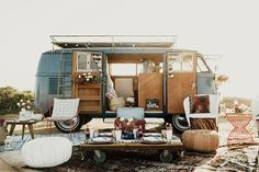 Looking for a bridal shower theme appropriate for your outdoorsy friend? These 10 bridal shower ideas are terrific when hosting a party for a gal pal Vw Bus, Vw Camper, Coca Cola Party, Camping Accesorios, Shower Tent, Shower Party, Baby Shower, Outdoor Bridal Showers, Kombi Home