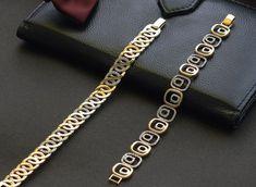 Two Tone Sterling Channel Diamond Bracelet – Modern Jewelry Charm Bracelets For Girls, Mens Gold Bracelets, Jewelry Bracelets, Diamond Bracelets, Gold Bangles Design, Jewelry Design, Bracelet Designs, Necklace Designs, Gents Bracelet