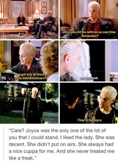 Spike was a vampire without a soul and he loved more deeply that anyone in the show.