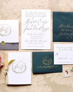 Photography by Elisa Bricker, Stationery, Day of Paper, Calligraphy:Script Merchant