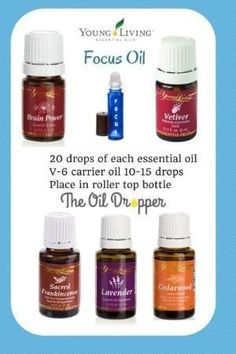 Pseudo ADHD Treatment Naturally with Young LIving Essential Oils - Includes recipe to 'Focus Oil' by jayne