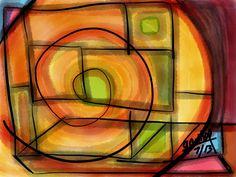 Spiral Square, glicee on canvas since $70.00  Para adquisición: arteracines@yahoo.es