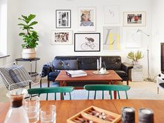 A cool Funkis style apartment in Gothenburg