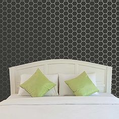 geometric modern wall painting stencil bee honeycomb pattern - Royal Design Studio