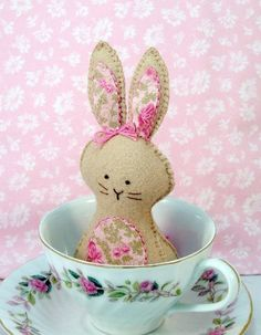 Bunny Natural Wool Easter Basket Gift by sewfaithful on Etsy. Easter Gift Baskets, Basket Gift, Somebunny Loves You, Bunny Hutch, Time To Celebrate, Cute Bunny, Crafts To Do, Softies, Spring Time