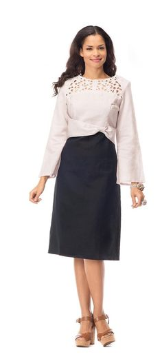 Night Studio Linen Style 6834. Stunning dress by in linen fabric. Great church dress, work dress or special occasion dress. #churchdress #linen #springfashion #womensfashion #fitritefasions