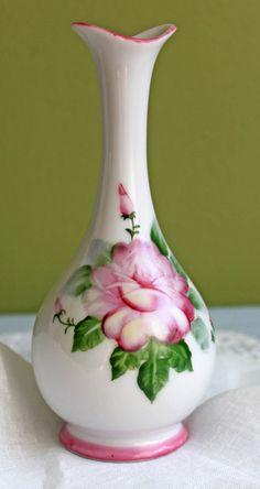 Vase.  Porcelain Vase.   Small Vase Hand by AnythingDiscovered