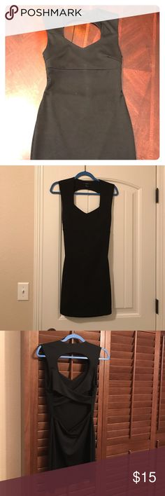 Little Black Dress Super cute Forever 21  little black dress. Washed, never worn. Cut out/open back- see photos. Size L, fits more like a M. Forever 21 Dresses Mini