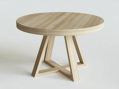 FLOW stół okrągły rozkładany,  wymiary