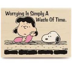 Worrying is simply a waste of time. Image detail for -Peanuts Snoopy Worrying Rubber Stamp