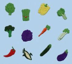 Artichoke, Asparagus, Bell Pepper, Bok Choy, Broccoli, Cabbage, Carrot, Celery, Chili Pepper, Corn, Cucumber and Eggplant.