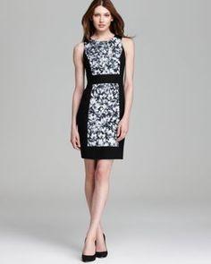 Sleeveless Wildflower Color Block Dress