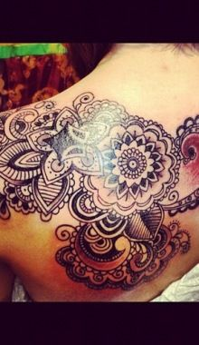 Floral Back Tattoo By John Rippey At Classic Electric Tattoos In...