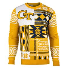 NFL Patches Crew Neck Ugly Sweater | Ugly Sweater | Pinterest ...