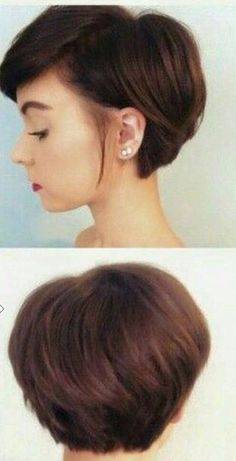 Letting the front of your hair grow, while keeping the length short in back.