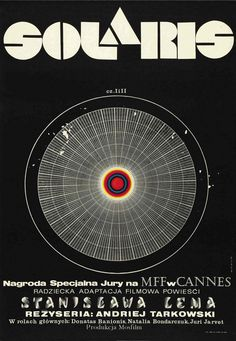 Andrzej Bertrandt's iconic design for Tarkovsky's SOLARIS: The Criterion Collection . Such an incredible film and such a striking poster.