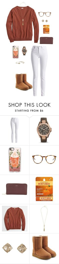 """""""Go follow @kat-attack!!!"""" by oliviacat1215 ❤ liked on Polyvore featuring Barbour International, FOSSIL, Casetify, The Row, DKNY, Burt's Bees, J.Crew, Cole Haan, Kendra Scott and UGG"""
