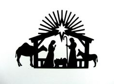 Nativity-Welded-as-one-piece-Bazzill-cardstock-die-cut-silhouette-scrapbooking