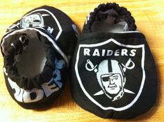 Oakland Raiders Baby Booties. $15.00, via Etsy.