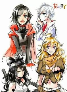 Imagen de ruby rose, rwby, and weiss schnee Rwby Anime, Rwby Fanart, Character Art, Character Design, Rwby Bumblebee, Red Like Roses, Rwby Red, Rwby Ships, Blake Belladonna
