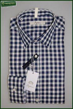 dab34a29fc7d40 Camicia moda Ingram slim fit quadri blu Polo Sweater, Modern Man, Online  Clothing Stores