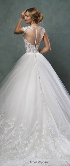 amelia sposa princess low back wedding dresses 2016 valery