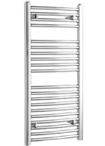 Flat chrome ladder style heated bathroom towel radiator rail 700mm x 450mm