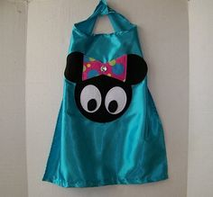 MINNIE MOUSE SingleSided  Cape for Birthday by CupcakeCutieKids, $12.99