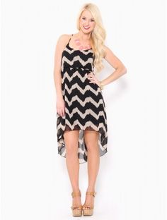 #Chevron High-Low #Dress - the trend will go bye bye soon but I'm not the kind of person who lets go of styles that easily so if you're like me then you won't care when it does! so basically get one now even though it will probably go out of style. you know on second thought just forget I said anything - you remember nothing - and buy the dress ok? ok.