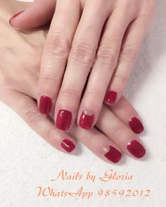 Valentines Red W Gold Glitter Soft Gel Nails Manicure Valentine Softgel Beauty
