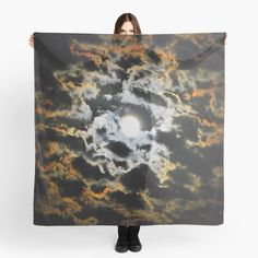 """Tiger Eye full moon"" Scarf by azimaplace 