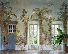 Gartenpavillon Stift Melk Wall Murals by Johann W. Bergl  Source: http://www.yellowtrace.com.au/illustrated-interiors/