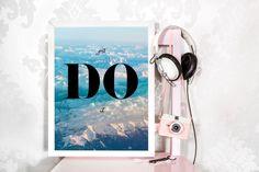 Just DO it, Printable wall art, Office decor, Interior design, Motivational Art, Inspirational Poster, Dream, Encouragement, Quotes by ShiningLifeandBiz on Etsy