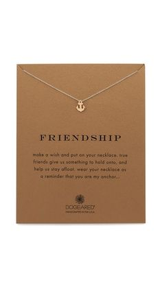 Dogeared Friendship Charm Necklace