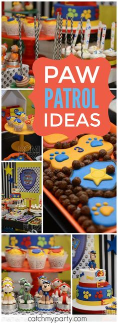 Lots of great ideas at this fun Paw Patrol party! See more party ideas at Catchmyparty.com!