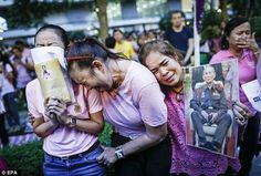 Before his death when the Thai people were told the King's health had deteriorated, many flocked to the Bangkok hospital where he was being treated