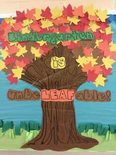 Fall school decoration Decoracion de otoño