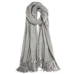 Cushy Cashmere Fringe Scarf (225 CHF) ❤ liked on Polyvore featuring accessories, scarves, cashmere shawl, fringe scarves, cashmere scarves, calypso st. barth and fringed shawls