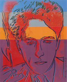 "Andy Warhol, ""Jean Cocteau red portrait"" (1983), silkscreen, 80 x 97 cm"