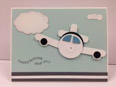 Airplane Punch ART Stampin UP 034 Birthday 034 Card KIT 5 Cards | eBay