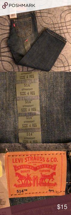 BOYS DENIM BLUE JEANS NWT Boys denim jeans with adjustable waistline, regular fit, straight slim legs, distressed denim look. Levi's Bottoms Jeans
