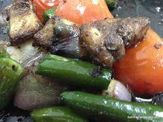 Safrinlipi: Vegetables, fish tikka সবজি, মাছের টিক্কা !!!