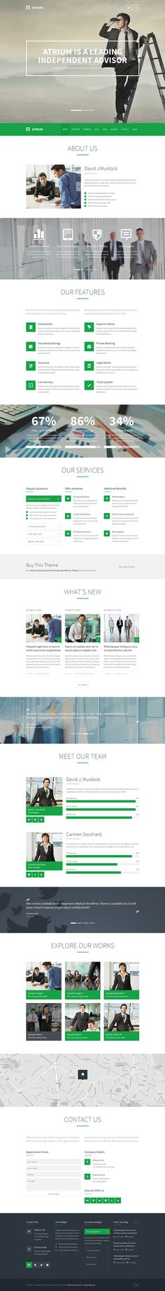 Atrium – Responsive One Page WordPress Theme