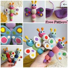 Easy Crochet Amigurumi Butterfly - Free Patterns #freecrochetpattern #amigurumi #butterfly
