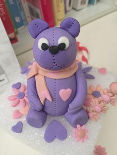 Purple Fondant Bear