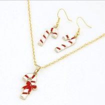 Fashion Chain Jewelry Bib Christmas Gift Necklace Earrings Crutch