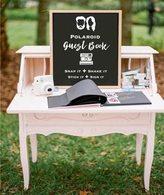 Rustic vintage wedding decor guest book with polaroids Eclectic Jewel-Toned Backyard Wedding Perfect Wedding, Dream Wedding, Wedding Day, Low Key Wedding, Wedding Book, Laid Back Wedding, Wedding Vintage, Wedding Dreams, Vintage Weddings